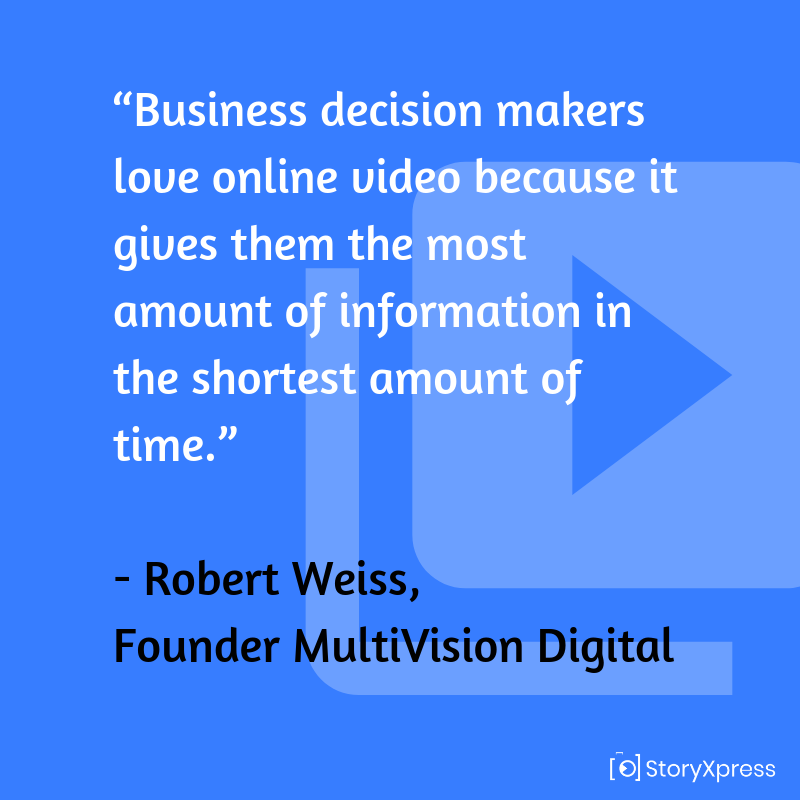 Quote By Robert Weiss, Founder MultiVision Digital