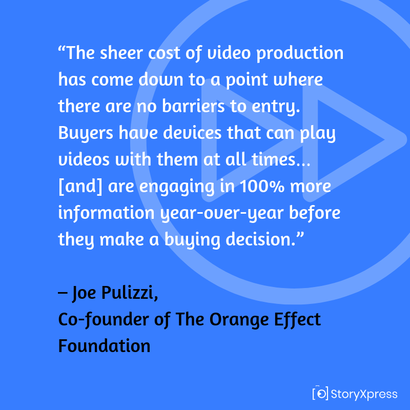 Quote by Joe Pulizzi, Co-founder of the Orange Effect Foundation