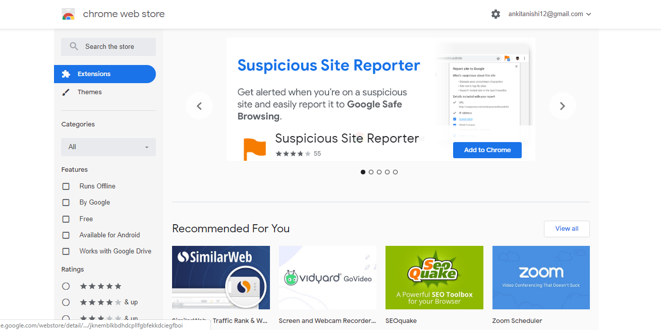 The Chrome Web Store - Search for extensions