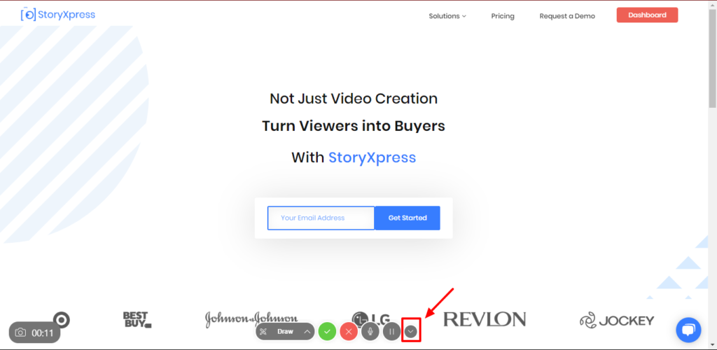 Hide or Show StoryXpress Chrome extension's recording controls