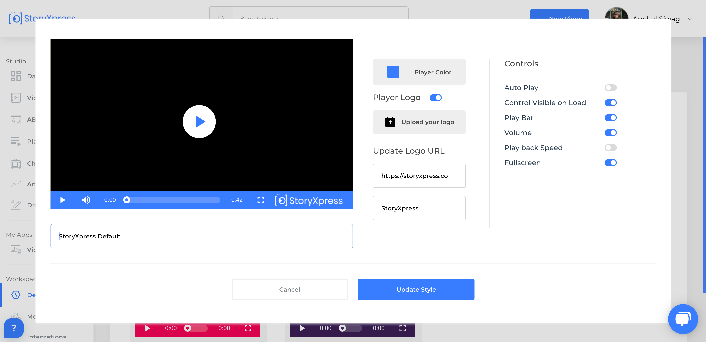 customised video player