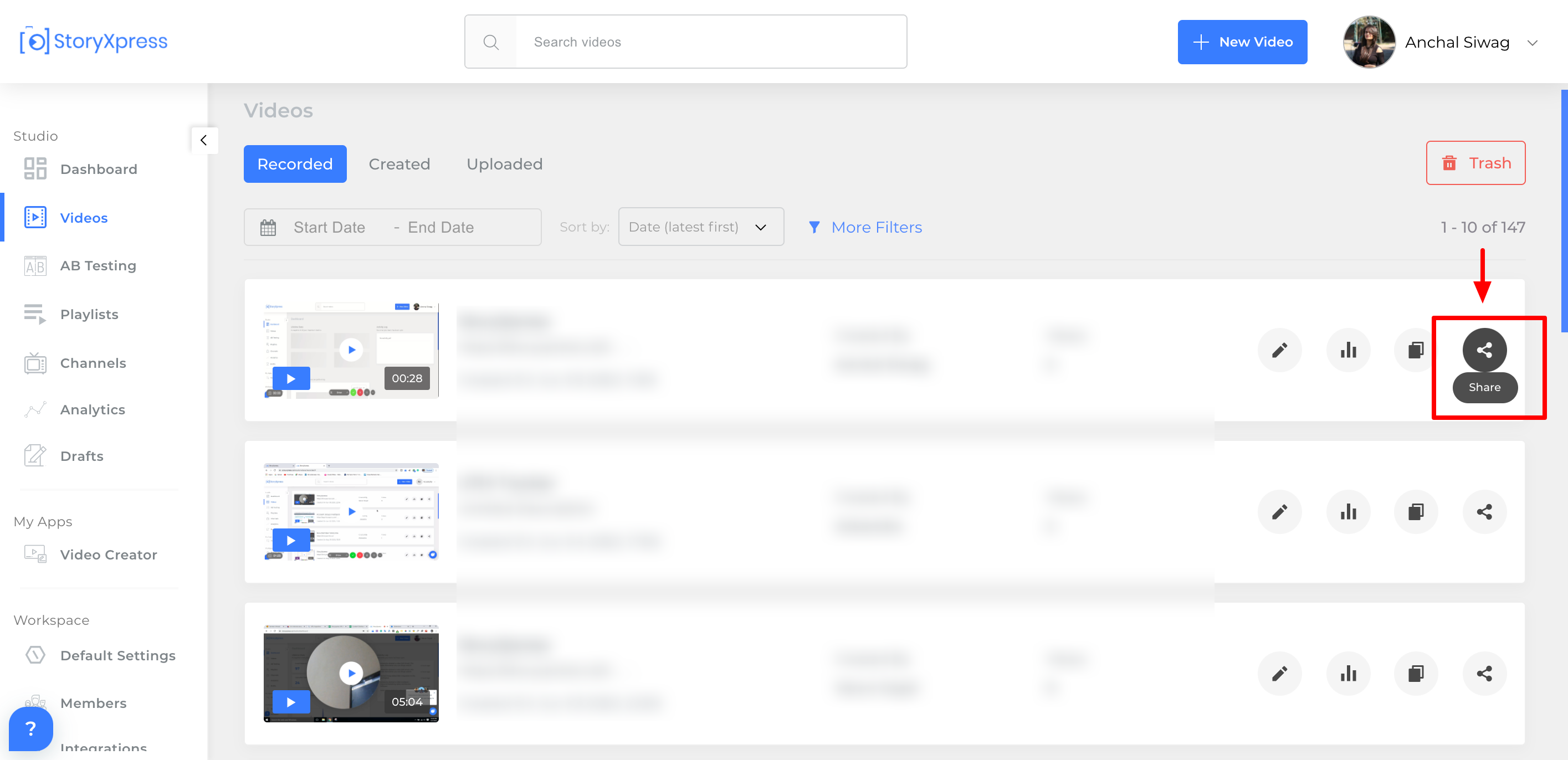 track Video views with viewer's email