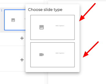 Choose slide type