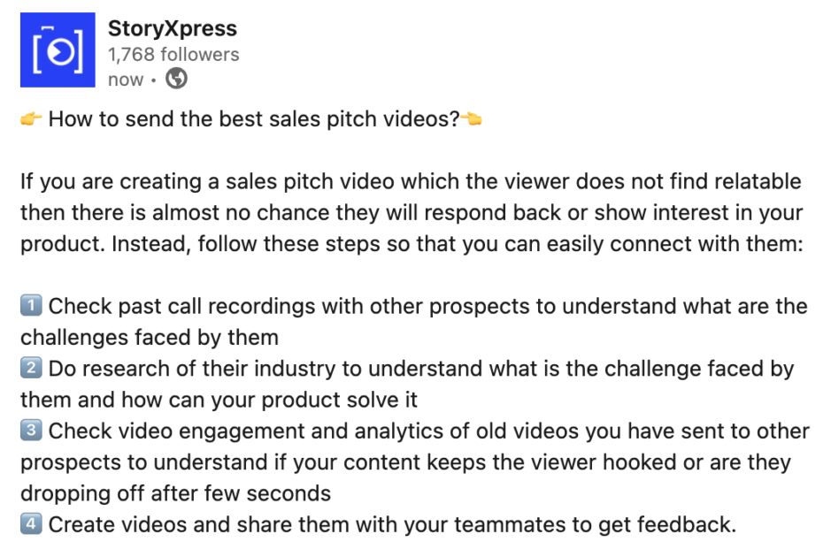 Convert prospects into customers by using sales pitch videos